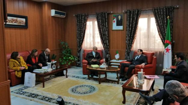 Rencontretre Ministre de l'éducation avec une délégation du HCA