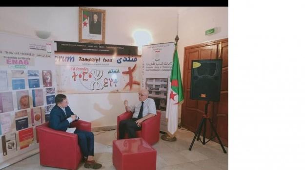قام سي الهاشمي عصّاد، الأمين العام للمحافظة السّامية للأمازيغية بمقابلة الصحفي الموهوب (حمو مرزوق) من قناة (Berbère TV).
