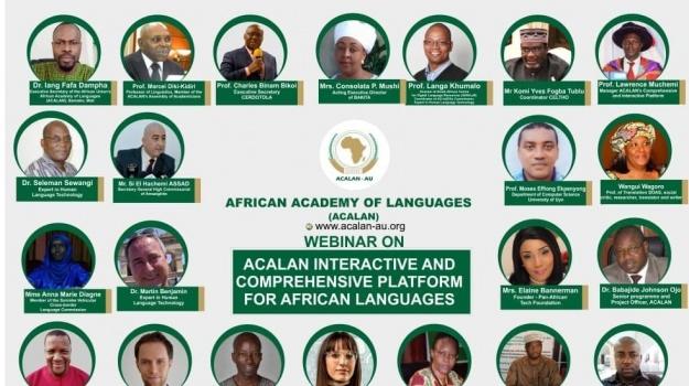 مشاركة السيج سي الهاشمي عصاد في محاضرة للأكاديمية الإفريقية للغات.